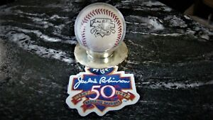 JACKIE ROBINSON 50 ANNIVERSARY BALL AND BREAKING THE BARRIERS PATCH