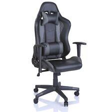 Gaming Stuhl Racing Bürostuhl Chefsessel Drehstuhl Schreibtischstuhl Silber