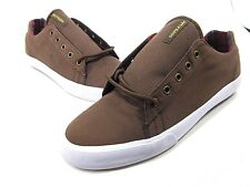 SUPRA, THE ASSAULT SNEAKER, MENS, US 11M, BROWN/WHITE, CANVAS, NEW WITH BOX