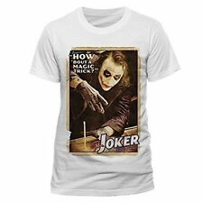 Batman The Dark Knight Joker Magic Trick Mens T-shirt Licensed Top White M