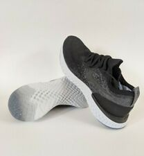 Nike Epic React Flyknit Running Shoes Black Grey White AQ0070-001 Women Size 8