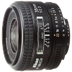 USED Nikon AF FX NIKKOR 35mm f/2D Excellent FREE SHIPPING