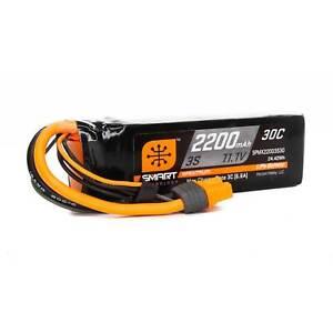 Spektrum 11.1V 2200mAh 3S 30C Smart LiPo Battery IC3