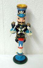 Kerzenständer Holzfigur königliche Garde blau Trommler Erzgebirge Nussknacker