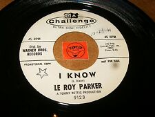 LE ROY PARKER - I KNOW - FROM THIS DAY  / LISTEN - TEEN POPCORN