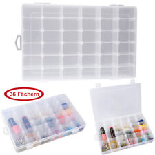 36 Compartment Craft Organizer Plastic Box Jewelry Bead Storage Container New