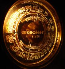 Crosley Old Antique Wood Vintage Tube Radio - Restored & Working w/ Mirror Dial