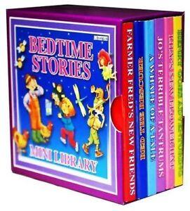 BEDTIME STORIES MINI LIBRARY SET 6 BOARD CHILDREN BOOKS PARTY BAG FILLER 1971BSM