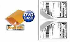 "#DVD BUBBLE MAILERS Padded Envelopes 6.5"" X 9"" 250Ct + 200 Self Stick Labels USA"