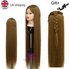 "30"" Long Hairdressing Hair Training Head Model Mannequin Doll With Free Clamp UK"
