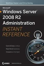 NEW - Microsoft Windows Server 2008 R2 Administration Instant Reference