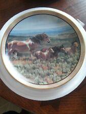 Horse Plate, Wispering Wind, Wild and Free, Danbury Mint