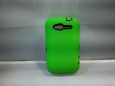 GO HC370 Dual Robot Rubberized Protective Hard Case for HTC Wildfire S Green
