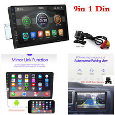 9in 1Din Mirror Link Car Touch Screen Bluetooth MP5 Player Stereo Radio W/Camera