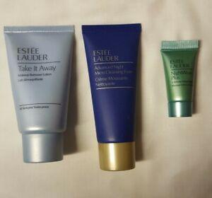 Estee Lauder Travel Size Beauty Bundle Makeup Remover, Cleanser + Detox Mask