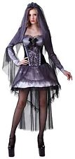 Ladies Womens Halloween Costume Fancy Dress Sexy Scary Dark Bride Ghost 10 12 14