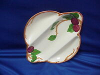 1949 to 1953 Franciscan Red Apple Divided Serving Relish Tray Bowl Dish 123 38