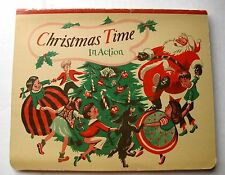 Vintage 1949 Christmas Time In Action 3D Pop Up Book Great Images!