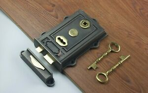 ~Quality ~Davenport ~ Victorian Style~ Cast Iron & Brass Rim Lock ~