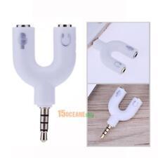 Audio Splitter U Buchs Y Adapter Kopfhörer für PC Laptop TV Headset 3.5mm Stereo