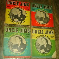 old 1939 NBC Radio program UNCLE JIM'S QUESTION BEE Trivia QUIZ BOOK & Answers