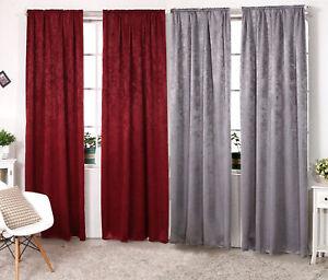 Verdunklungsvorhang Schwere Vorhang mit Kräuselband Blickdicht 135x245 cm #192