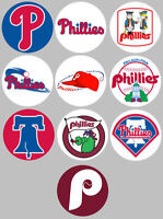 Philadelphia Phillies Set of 10 Buttons or Magnets 1.25 inch
