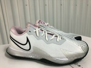 Wmns Nike Air Zoom Vapor Cage 4 HC White Grey Pink 8.5 CD0431 100 Tennis Shoes