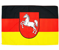 Fahne Niedersachsen 90x150 cm niedersächsische Hiss Flagge Bundesland BRD Wappen