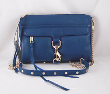 Rebecca Minkoff Mac Clutch in NAVY with Light Gold Hardware NWT