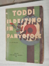 IL DESTINO IN PANTOFOLE Novelle Toddi Editrice Ceschina 1930 libro romanzo di