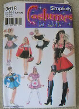 Simplicity Pattern #3618 Misses Maid, Nurse, Red Riding Hood Size (6-8-10-12)