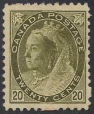 CANADA 1898 QUEEN VICTORIA 20¢ SG 165 Sc 84 ORIGINAL GUM HINGED PAPER ADHESION