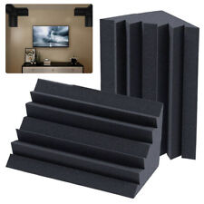 More details for 12x wedge bass trap acoustic panels studio soundproofing foam corner wall tiles