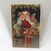 Vintage Postcard 1988 Santa Claus Merry Christmas Greeting Card