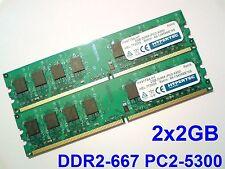 4GB 2x2GB DDR2-667 PC2-5300 240pin 667Mhz Non-ECC PC DESKTOP MEMORY RAM Speicher