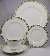 WEDGWOOD ULANDER GOLD W4181/4222 5 Pc Place Setting(Dinner,Salad,B&B,Cup,Saucer)