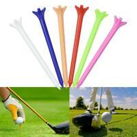 70mm Plastic Golf Tees - Random Mix Colours- 10/100 Qtys