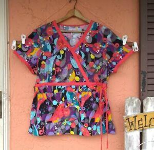Koi Kathy Peterson Scrub Top Size XL Short Sleeve (stain)