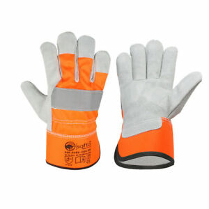 Rigger & Builders & Gardening Gloves Thorn proof, Cow leather  Double Safety