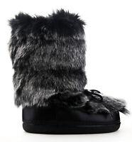 Cape Robbin Creature Black Furry Platform Fashion Furry Moritz Moon Boots