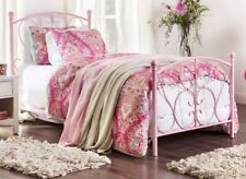 Girls Pink Bed Frame Princess Beds Twin Single Girly Childrens Furniture NEW