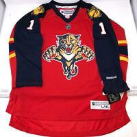 NHL Reebok Luongo Florida Panthers Hockey Red Jersey Kids Youth size L/XL