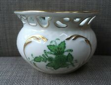 Herend Apponyi /Chinese Bouquet Green Porcelain Cachepot 7248/AV