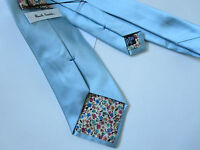 PAUL SMITH Silk TIE - Baby  Blue  -  Floral Lining - 9cm Blade -  BRAND NEW