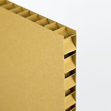 Honeycomb Cardboard Sheets Lightweight Pad Craft Divider 20mm Thick Brown