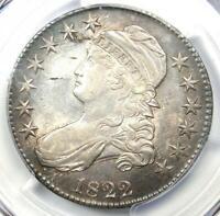 1822 Capped Bust Half Dollar 50C - PCGS AU Details - Near MS UNC - Rare Coin!