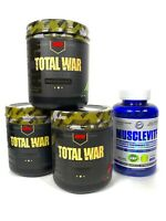Redcon1 TOTAL WAR Pre Workout New Formula ALL FLAVORS + Musclevite Multi-Vitamin