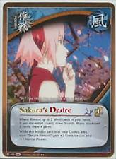 1x FOIL Sakura's Desire 697 S18 Rare Naruto CCG TCG NM/M