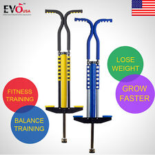 Pogo Stick Jackhammer Jump Stick for Children and Adults, Yellow, Free Shipping